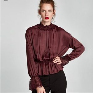 Zara Blouse with Lace Collar